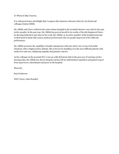 personal character reference letter examples