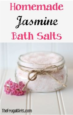 Nothing beats a relaxing bath at the end of a long week... and don't forget the candles! These Homemade Jasmine Bath Salts are the perfect addition to your blissful escape... and they also make a f...