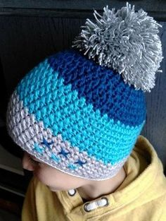 Exceptional Stitches Make a Crochet Hat Ideas. Extraordinary Stitches Make a Crochet Hat Ideas. Crochet Hats For Boys, Crochet Baby Hat Patterns, Crochet Baby Beanie, Crochet Cap, Crochet Baby Clothes, Love Crochet, Crochet Stitches For Beginners, Loom Knitting, Crochet Designs