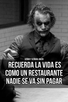 Joker Frases, Joker Quotes, Tumblr Quotes, Life Quotes, Serious Quotes, Quotes En Espanol, Facebook Quotes, Motivational Phrases, Joker And Harley