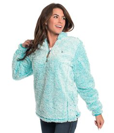 Heather Sherpa Pullover w/ Pockets