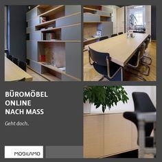 Bei MOBILAMO kann man Büromöbel ganz einfach online konfigurieren und bestellen. Büromöbel müssen nicht immer von der Stange sein - mit den maßgefertigten Designmöbel von MOBILAMO kann man sein Büro stilvoll einrichten.   Gestalten Sie ganz einfach Schreibtische, Regale oder Aktenschränke. Mit Hilfe des 3D-Konfigurators können Sie diese zentimetergenau anpassen. Sie können die genauen Maße, die Materialien und die Ausstattung auswählen. Geht doch!