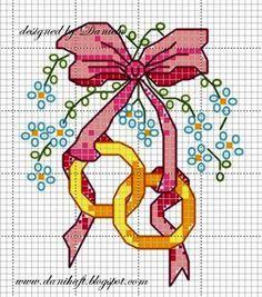 Wzór krzyżykowy na telegram ślubny danihaft.blogspot...
