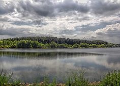 Hiking at a lake in Sayreville, New Jersey