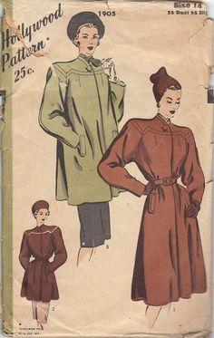 1940s Hollywood Pattern No. 1905 // Vintage by independencevintage, $20.00