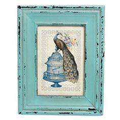 Heritage Turquoise Rectangular Picture Frame: Amazon.co.uk: Kitchen & Home