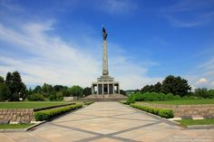Slavín war memorial and cemetery for fallen Soviet Armyt-bratislava. Bratislava Slovakia, Chief Architect, Army Soldier, Red Army, Capital City, Cemetery, Statue Of Liberty, Memories, World
