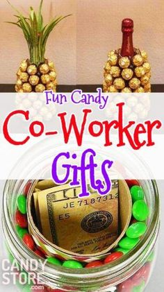 """10 Co-Workers Candy Christmas Gifts to Say """"Happy Holidays"""" at the Office Co-worker candy Christmas gifts Office Christmas Gifts, Christmas Candy Gifts, Christmas Gifts For Coworkers, Inexpensive Christmas Gifts, Christmas Gifts For Friends, Gifts For Office, Homemade Christmas Gifts, Christmas Humor, The Office"""