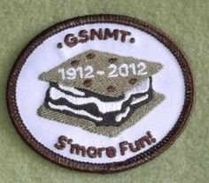 Girl Scouts New Mexico Trails 100th anniversary patch. S'more Fun
