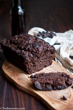 Chocolate Stout Muffin Bread. Only takes five minutes.