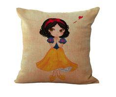 Cartoon Princess Pillowcase Gift Decorative home decor cushion pillow Disney #Unbranded