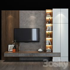 Apartment Interior, Living Room Interior, Home Living Room, Living Room Decor, Modern Tv Room, Modern Tv Wall Units, Living Room Wall Units, Living Room Tv Unit Designs, Tv Unit Bedroom