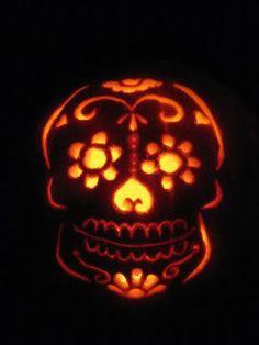 sugar skull pumpkin. I. Am. Doing. This.