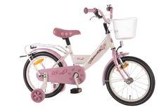 De Volare Rose 16 inch meisjesfiets is al jarenlang een zeer gewilde fiets in onze collectie. Dit is de nieuwste versie in een prachtige echte meisjeskleurstelling. De Volare Rose heeft een lekker lage instap, metallic lak met fris bloemetjesdekor. Een echte meisjesfiets, een absolute aanrader. Natuurlijk top kwaliteit voor een betaalbare prijs.
