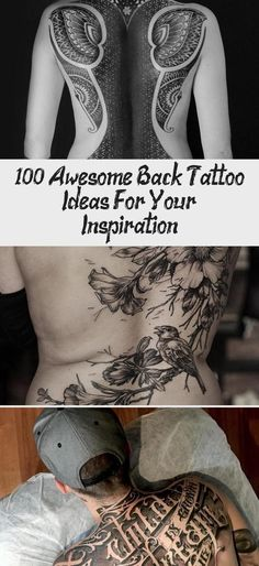Back tattoo for man - 100 Awesome Back Tattoo Ideas #Polynesianarmtattoosformen ...