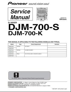 Pioneer pdp lx 5090 h arp 3492 kuro service manual pioneer djm 700 mixer original service manual fandeluxe Image collections