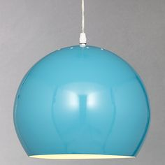 Buy House by John Lewis Tony Ceiling Pendant, Teal online at JohnLewis.com - John Lewis