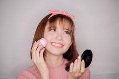 CARRY ME BLUSHER delivers a healthy glow to the face; formulated with micro crystals for long-lasting, silky, sheer color that won't clump. Blusher, Korean, Cosmetics, Face, Color, Korean Language, Colour, The Face, Faces