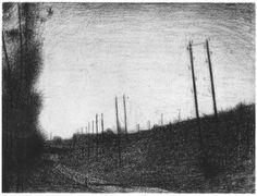 La voie Ferrée by Georges Seurat
