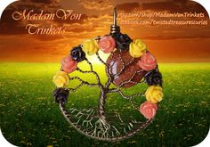 Fall Inspired Tree of Life with Goldstone Moon by MadamVonTrinkets