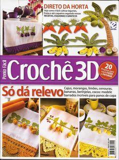 Feito à mão by Lúcia Costa: Meus trabalhos na revista crochê 3D
