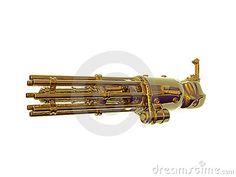 Gold Chain Gun by Paul Moore, via Dreamstime