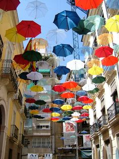umbrella art installation
