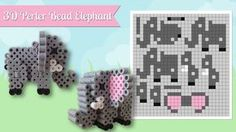 How To Make A Cute Perler Bead 3D Elephant