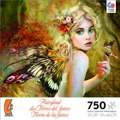 Fairyland Touch of Gold Jigsaw Puzzle. Artist is  Nene Thomas; by Ceaco