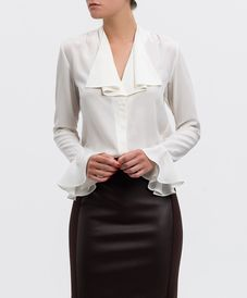 Blusa seda LAUREN RALPH LAUREN Classic Outfits, Cool Outfits, Look Formal, Shirt Makeover, Professional Outfits, Corsage, White Shirts, Work Attire, My Wardrobe
