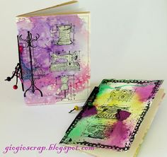 Scrap in Progress: Hand made colourful notebook with tutorial