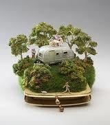 Sydney based artist kendal murray diorama miniature airstream