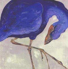 The Purple Bird: Ralph Kiggell, woodblock.