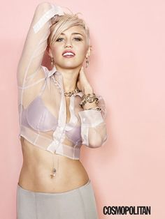 Miley Cyrus shocks again with Cosmopolitan magazine. #mileycyrus Topics for girls youth group