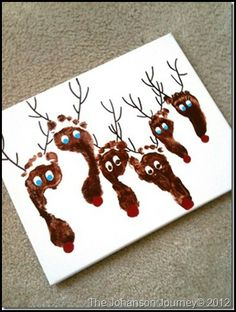 The Johanson Journey Reindeer Prints. Do this each year and see the difference in growth!