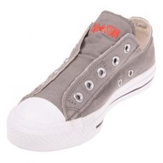437bd7e0dbb8 Skip lacing up your shoes and go for the charcoal slip on instead! The Converse  Chuck Taylor Charcoal Slip On has a laceless design