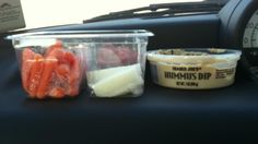 Fast raw food for breakfast on the road
