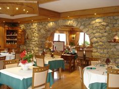 Le restaurant de l'hôtel le Caprice des Neiges à Crest-Voland