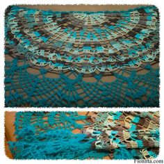 half a circle shawl - free pattern - just click on the picture! LOVE THE COLORS!