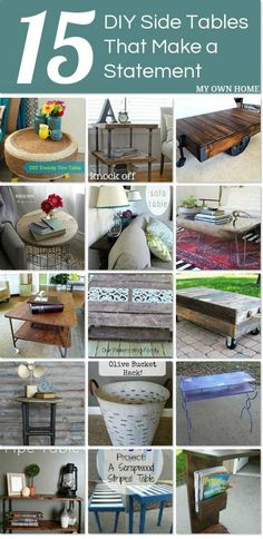 15 DIY Side Tables That Make A Statement - My Own Home