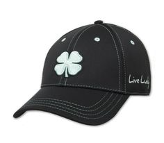Black Clover Black and Mint Cap Front view