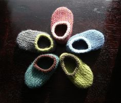 Design Your Own Wool Baby Slippers - 0, 3, 6, 12 months. via Etsy.