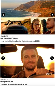 TV Season Finale Awards 2015 by Entertainment Weekly. #Olicity #arrow