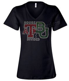 A&M/Baylor University House Divided by ShoutitOutApparel on Etsy, $33.95