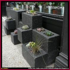 Dollar Store Crafter: Cinder Block Planter