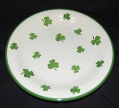 This plate may be the one to set the right St. Patrick's Day table.