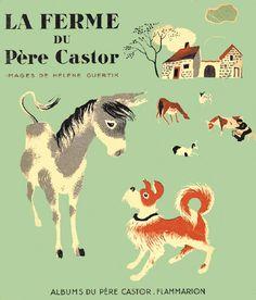 LA FERME [THE LITTLE FRENCH FARM] (1937) - lithos by Helene Guertik.