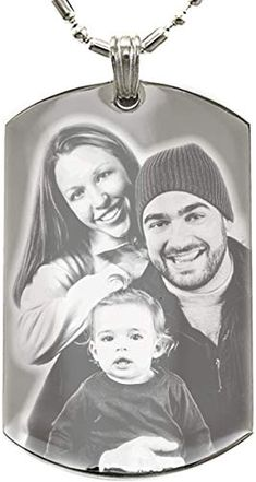 Buy Personalized Photo Text Dogtags Custom Your Picture Text Necklace Pendant + Free Engraving Valentine's Mother's Father's Day Gift online - Topratedgoods Picture Necklace, Red String Bracelet, Personalized Mother's Day Gifts, Photo Engraving, Text Pictures, Engraved Necklace, Stainless Steel Necklace, Mother And Father, Online Gifts