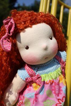 Greta, OAAK Waldorf inspired doll. $165.00, via Etsy. nice hair