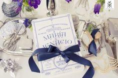 Invitaciones personalizadas de boda // invitaciones de boda // nuestro trabajo // Stationery Invitación vintage en letterpress para una boda en el Hotel RITZ de Madrid #invitacionenletterpress #invitaciondeboda #bodavintage